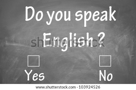 do you speak english test - stock photo