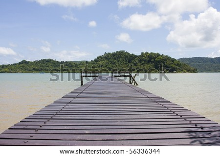 Dock to the ferry pier. Thailand. - stock photo
