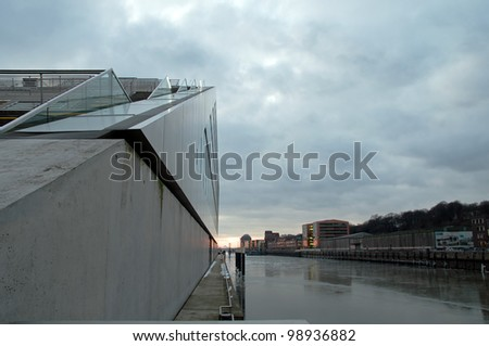 Dockland im Winter