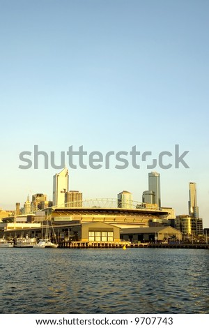 Docklands development in the Australian city of Melbourne - stock photo