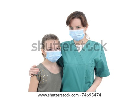 doctor and patient posing together