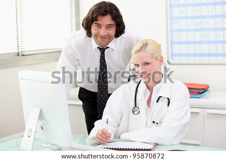 Doctor at a desk