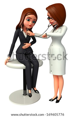 Doctor check up with patient - stock photo
