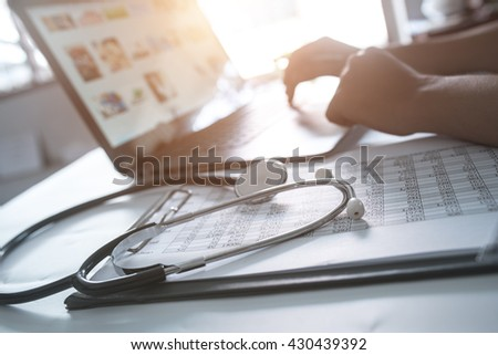 Doctor fees - stock photo