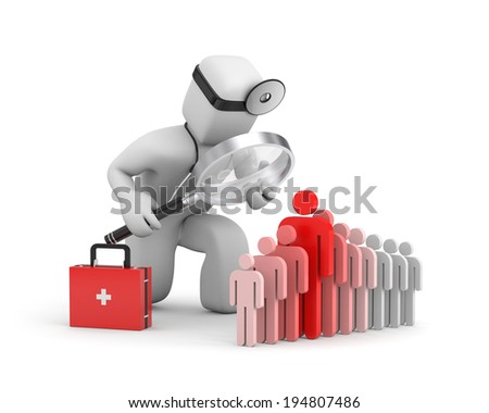 Doctor hiring personnel - stock photo