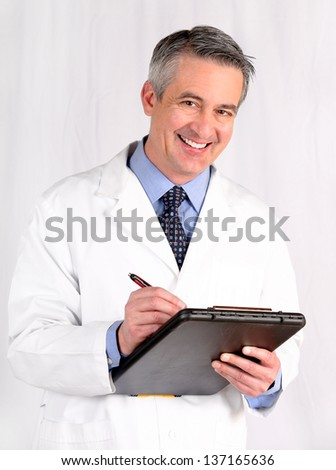 Doctor holding a medical chart - stock photo