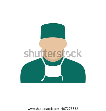 Doctor icon flat - stock photo