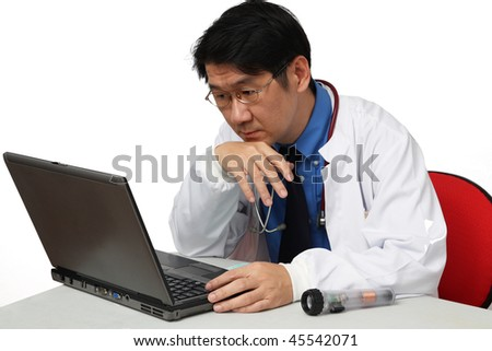 doctor is working - stock photo