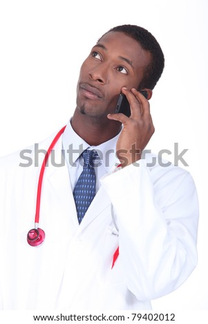 Doctor on the phone - stock photo