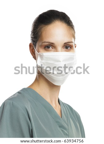 Doctor or nurse with mask - stock photo