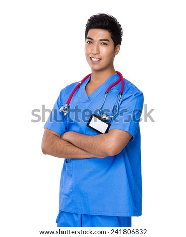 Doctor portrait - stock photo