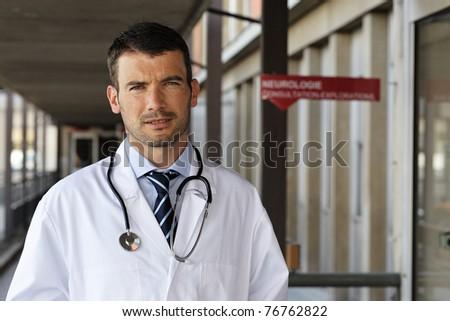 doctor portrait - stock photo