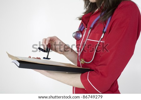 doctor's medical notes - stock photo