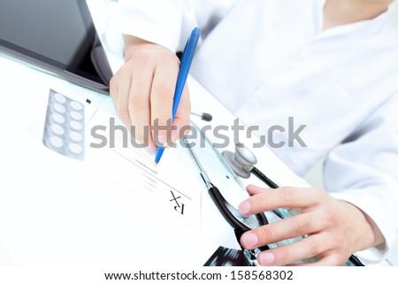 doctor's prescription - stock photo
