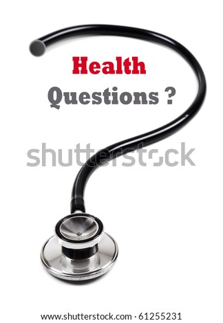 Doctor's stethoscope in the form of a question mark