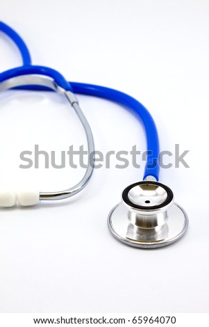 Doctor's stethoscope isolated on a white background - stock photo