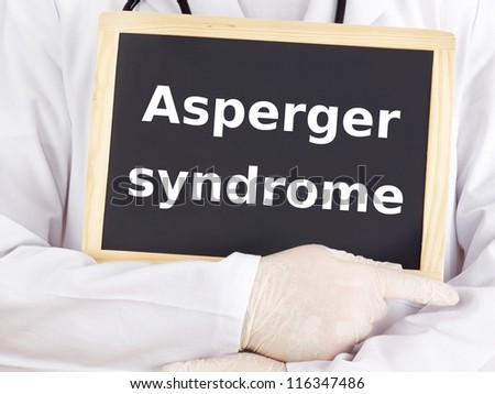 Doctor shows information: asperger syndrome