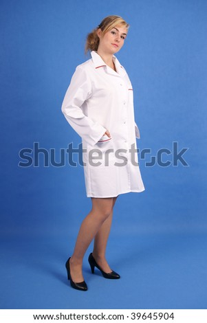 Doctor standing. Full body shot. - stock photo