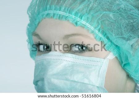 Doctor surgeon portrait - stock photo