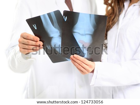 Doctor take x-ray pictures.