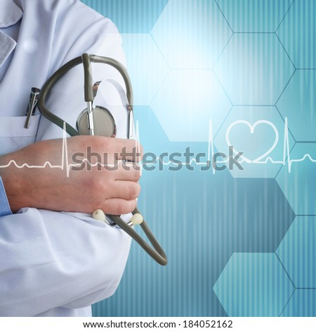 Doctor with a stethoscope  - stock photo