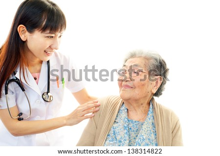 Doctor with senior woman