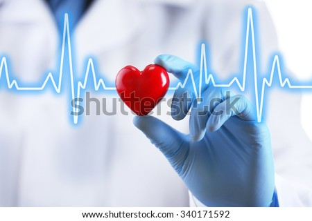 Doctor with small heart in hand