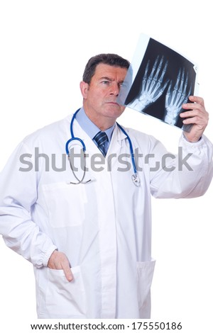 doctor with x-ray - stock photo