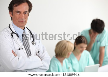 Doctors and nurses - stock photo
