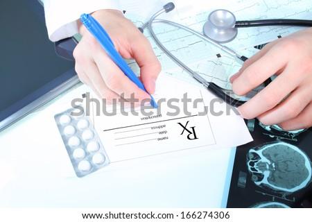 Doctors prescription - stock photo