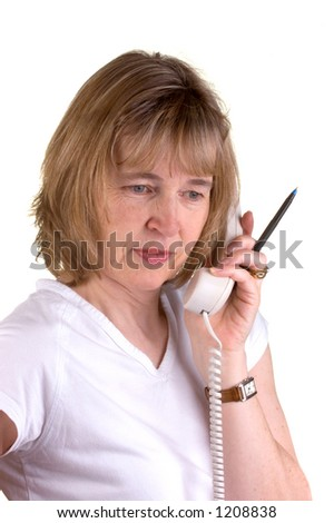 Doctors Receptionist On The Phone - stock photo
