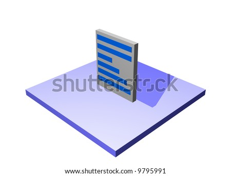 Document, a logistics supply chain symbol from a series set - stock photo