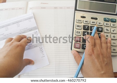 document and notebook monthly record expense income