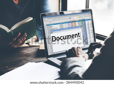 Document Contract Forms Legal Notes Records Concept - stock photo