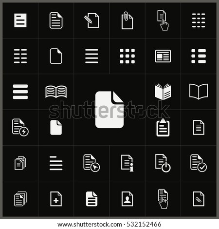 document icons universal set for web and mobile