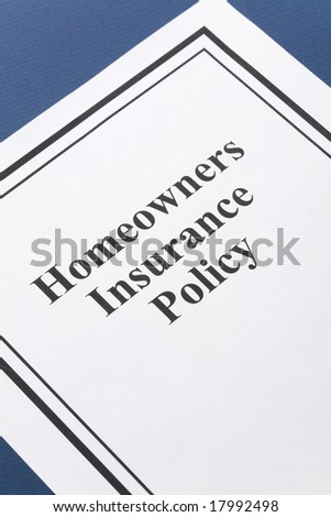 Document of Homeowners Insurance Policy for background - stock photo