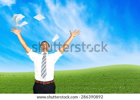 Document, Paper, Throwing. - stock photo