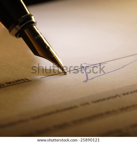 document sign - stock photo