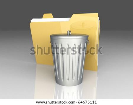Document Trash - stock photo