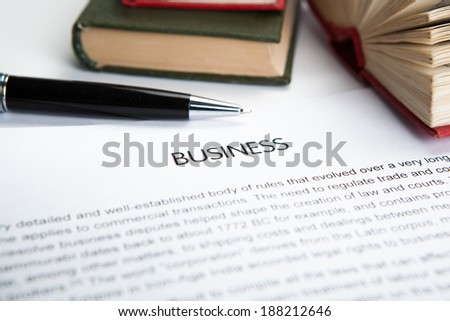 document with the title of business closeup