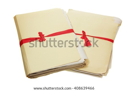 Documents on White Background - stock photo