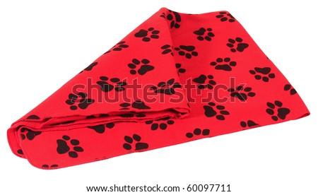 Dog blanket. Isolated - stock photo