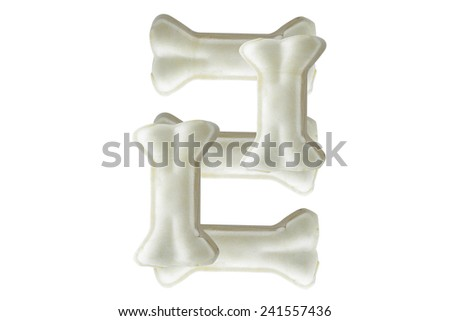 Dog bone in the form of number - stock photo