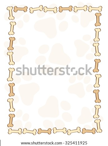 Dog Bone Pattern Border Frame On Stock Illustration 325411925 ...
