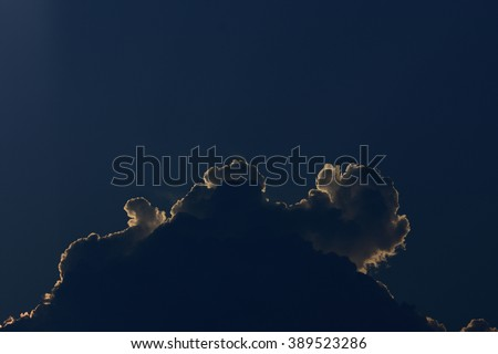 dog cloud in the sky - stock photo