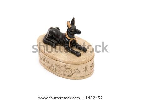 Dog Figurine, isolated on white background - stock photo