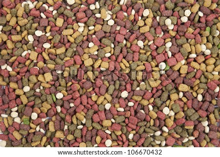 dog food background pattern detail. - stock photo