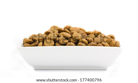 Dog food in a bowl - stock photo