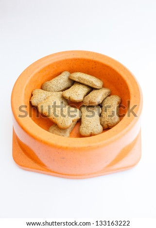 Dog food in the container - stock photo