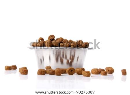 dog food isolated on  white background - stock photo